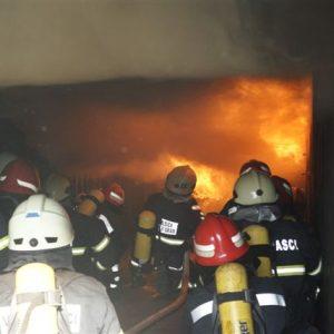 Operativni članovi DVD-a Belišća i Veliškovaca u simulatoru plamenih udara